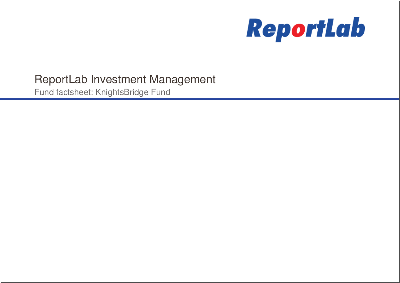 Fund Reporting Tutorial - ReportLab com